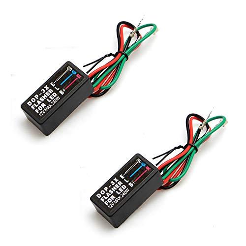 Motorrad LED Blinker Relais, 3-Polig Universal, 2 Stück