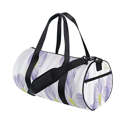 PONIKUCY Bolsa de Viaje,Flor púrpura Romance Naturaleza Ilustración Inspiración Dibujado a Mano Floral Color Lavanda para niña,Bolsa de Deporte con Compartimento para Sports Gym Bag