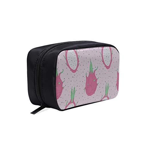 Girls Fashion Bags Retro Creative Fruit Dragon Dot Womens Toiletry Bag Best Makeup Bag Classic Fashion Bag Cosmetic Bags Multifunction Case Travel Cosmetic Bag Organizer