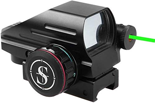 TPO RD22LG Holographic Reflex Sight with 4 Reticles Red and Green Dot with Green Laser