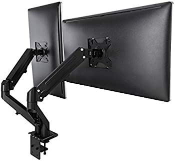 Aludest Adjustable Gas Spring Dual Monitor Stand