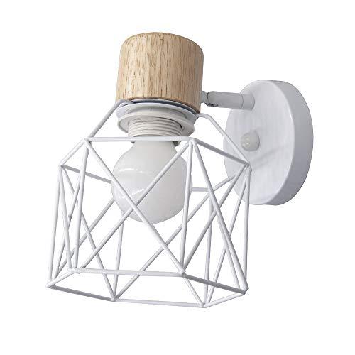 Aplique de pared industrial blanco / dorado / negro Iluminación moderna Lámpara ajustable Pantalla LED blanca