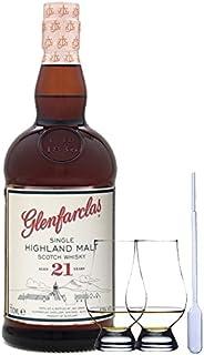Glenfarclas 21 Jahre Single Malt Whisky 0,7 Liter  2 Glencairn Gläser  Einwegpipette