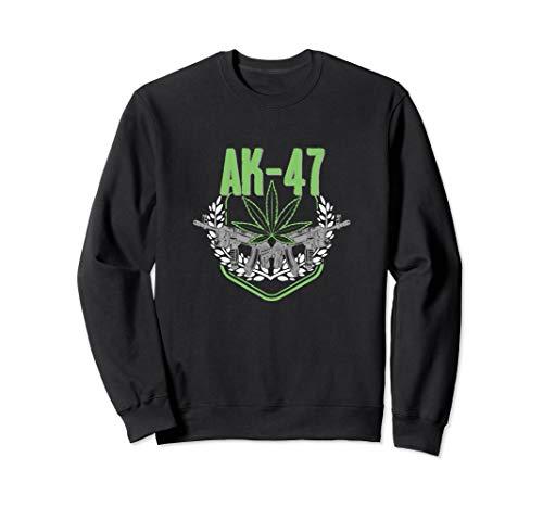 AK47 Cannabis Marihuana Sorte 420 Love Design Sweatshirt