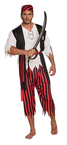 Boland – 83845 – Adultes Costume Pirate Jack Blanc