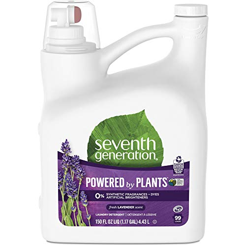 Seventh Generation Liquid Laundry Detergent Fresh Lavender Scent, 150 oz