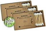 Wattestäbchen aus Bambus & Baumwolle 600 Stk.