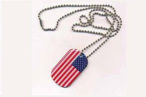 Erkennungsmarke DOG TAG USA Fahne Flagge Kette