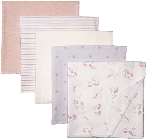 Rene Rofe Baby Baby Collection 5-Pack Flannel Blankets, Unicorn, One Size
