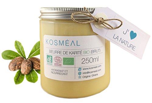 Raw Organic Shea Butter - Certified Organic Agriculture (AB) ndi ECOCERT - 250ml