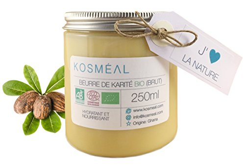 Boa Organic Shea Butter - Ti ifọwọsi Organic ogbin (AB) ati ECOCERT - 250ml