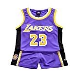 Demino James #23 Laker Jersey, camisetas de niños, pantalones cortos de baloncesto, ropa de baloncesto para hombre,...