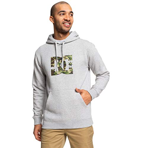 DC Apparel Herren Hoodie Star, Grey Heather/camo, M, EDYSF03165