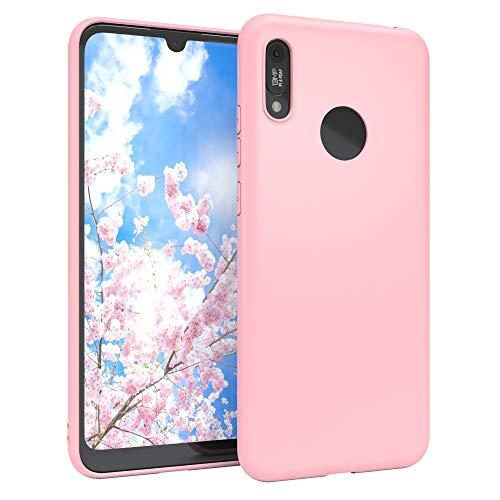EAZY CASE Handyhülle Silikon mit Kameraschutz kompatibel mit Huawei Y6 (2019) in Rosa, Ultra dünn, Slimcover, Silikonhülle, Hülle, Softcase, Backcover