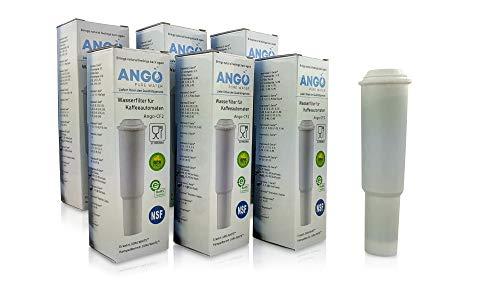 6x Wasserfilterpatronen ersetzen Jura Claris White 60209 / kompatibel mit Jura Impressa, Nespresso, Espresso, Carpresso - PureWater Ango-CF2 Kaffeevollautomat Kartusche