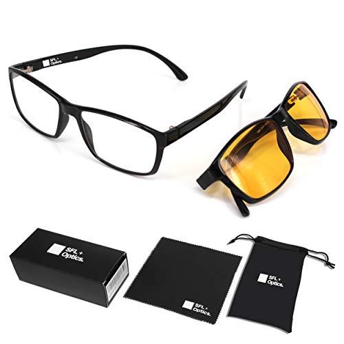 SFL + Optics. - Computerbrille - Gaming Brillen - Brillen mit blaulichtfilter - Brillen blaulichtfilter - Gamer Brille - blueblocker Brille - Brillen für PC - Brillen Computer
