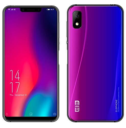 ELEPHONE A4 PRO Smartphone - 5,85 Zoll Kerbenbildschirm(19:9 Verhältnis und Vollglas) Android 8.1 Dual-SIM 4G Handy, Kunst und Metall aufeinanderprallen, MT6763 Octa Kern 2.0GHz 4 GB + 64 GB- Aurora
