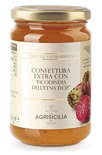 """Agrisicilia Confettura Extra con """"Ficodindia dell'Etna D.O.P."""" - 360 Gr"""