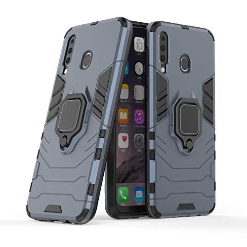 Capa para celular Samsung M30/A40s, em material tpu, com fivela magnética giratória de 360 °,Marinha