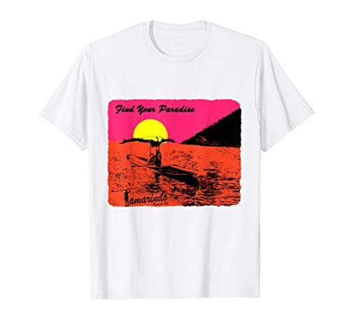 Paddle Board Yoga Headstand and Splits, Sun Set T-Shirt