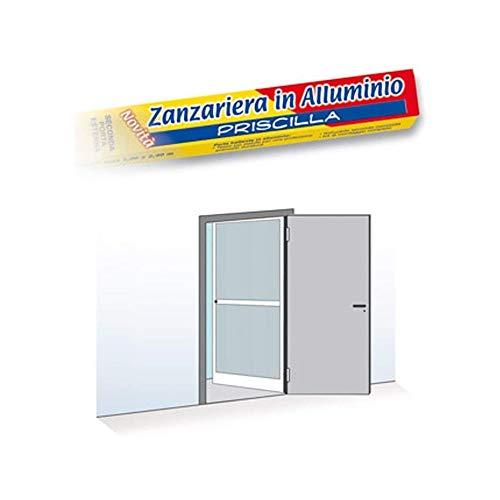 ZANZARIERA PER PORTA UNICO BATTENTE TELAIO IN ALLUMINIO 100X240 cm MARRONE