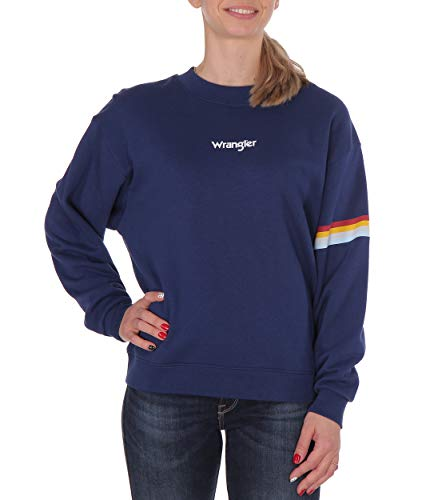 Wrangler dames blouse 80'S Retro Sweat Navy (Blue Depths)