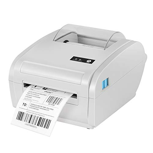 TTLIFE Imprimante d'étiquettes thermiques Imprimante directe haute vitesse compatible Mac OS/Windows Imprimante ISBN Convient pour l'impression d'étiquettes express 4x6