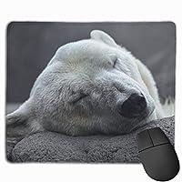 マウスパッド オフィス最適 石を支える寝た 白熊 ゲーミング 防水性 耐久性 滑り止め 多機能 標準サイズ25cm×30cm