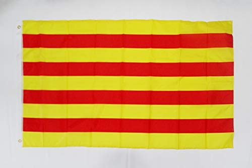 AZ FLAG Flagge KATALONIEN 150x90cm - KATALONIEN Fahne 90 x 150 cm feiner Polyester - flaggen