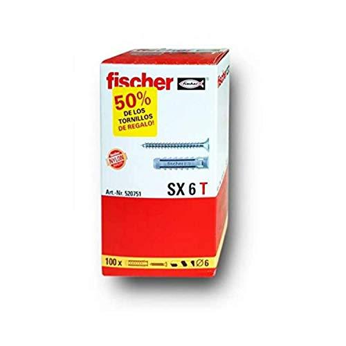 fischer SX T (Caja Tacos + 100, 520751, 6x30 (taco + tornillos)