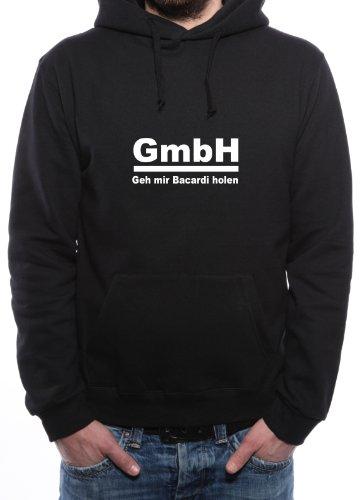 Mister Merchandise Hoodie Kapuzenpullover GmbH GEH Mir Bacardi Holen, Größe: M, Farbe: Schwarz