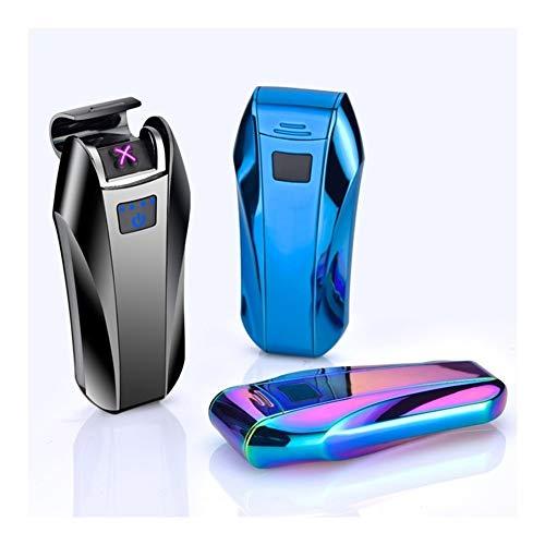 YUHUII sigarettenaansteker USB lichte dubbele kruis elektrisch met dubbele elektronica milieuvriendelijk licht winddicht rookmelder cadeau voor heren