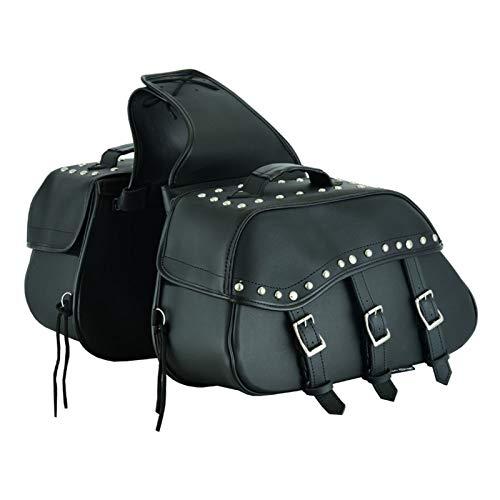 Bolsa de sillín de Cuero para Motocicleta RXL, Organizador de Almacenamiento de Equipo de Motocicleta Bolsa de sillín Impermeable para Ambos Lados Caja de Herramientas Negra
