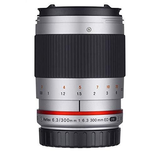 Samyang Reflex f/6.3 300mm Sony E MILC Plata - Objetivo (MILC, 9/9, 0,9 m, Sony E, Manual, 30 cm)