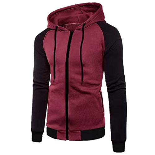 Gamlifing Men's Pullover Hoodies Hooded Sweatshirt Patchwork Top Casual Hoody Hoodie with Zip Pockets Men Sweatshirt Hoodie Sweater Jumper Hoody Zipper Slim Pullover Outwear Coat Jacket