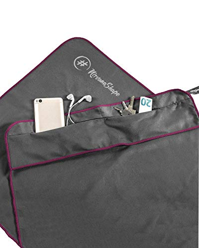 NirvanaShape  Asciugamano Palestra | Asciugamano Microfibra con Clip Magnetica | Elegante e Funzionale | Telo Palestra Ultra-assorbente e Compatto | Perfetto come Asciugamano Sportivo