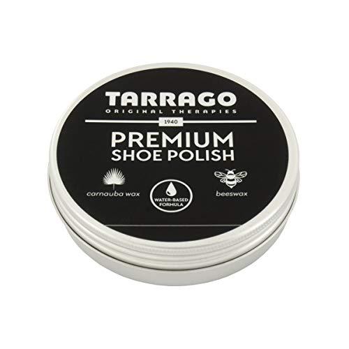 Tarrago | Premium Shoe Polish 50 ml | Betún en Pasta para Zapatos Premium | Para Reparar Cuero, Cuero Sintetico y Goma (Negro 18)