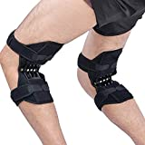 DEPRQ Knee Pads Sport Spring Knee Strap Mountain Knee Booster Knee Pad Knee Joint Protection Knee Care Pad for Basketball Volleyball Weightlifting (Color : Black, Size : One Size)