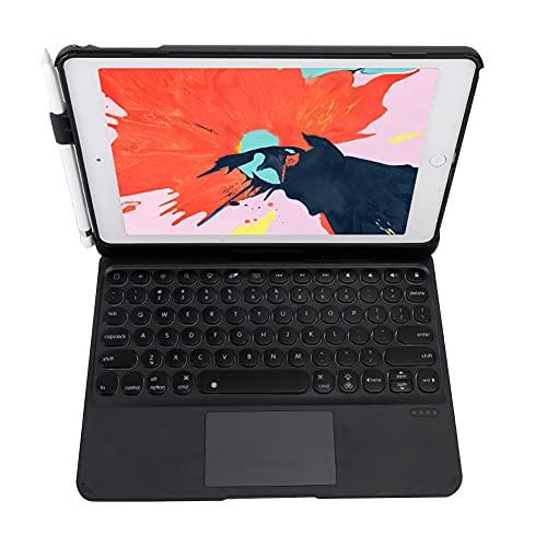 ktong Funda con Teclado táctil para iPad Air2 de 9,7'(A1566 / A1567), Funda Protectora para Tableta Inteligente con rotación de 360 ° con Teclado retroiluminado por Bluetooth