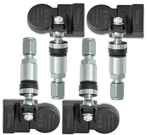 4 x RDKS TPMS czujnik ciśnienia w oponach, system kontroli ciśnienia w oponach, zawór metalowy DarkGrey pasuje do Auchan LingXuan 3601010W10AA