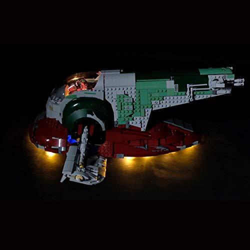 Conjunto De Luces (Star Wars UCS Esclavo No.1) Modelo De Construcción De Bloques - Kit De Luz LED Compatible con Lego 75060 (NO Incluido En El Modelo)