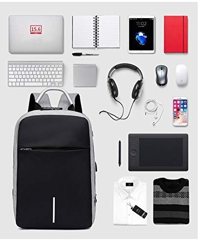 Multifunctional Anti Shock Backpack with USB and Headphone Port_ Business School_ Laptop Backpack.