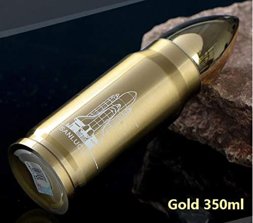 LinZX 350 ml 500 ml Bala Termo Aislamiento por vacío Frascos ejército para el Agua Que Tiene café Botella Rocket Mantener Caliente fría Bebida de café Militar Copa,Yellow