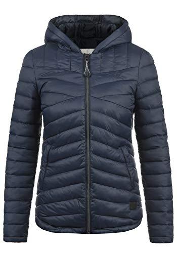 DESIRES Quella Damen Steppjacke Übergangsjacke Jacke Mit Kapuze, Größe:M, Farbe:Insignia Blue (1991)