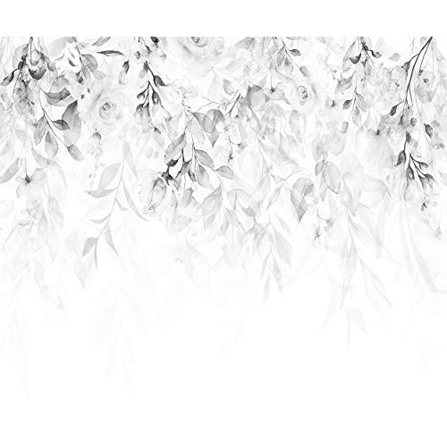 decomonkey Fototapete Blumen Rose 350x256 cm XL Tapete Fototapeten Vlies Tapeten Vliestapete Wandtapete moderne Wandbild Wand Schlafzimmer Wohnzimmer Pflanzen Natur