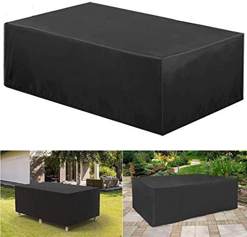 BAOFI Garden Furniture Covers 150x150x70cm, Patio Furniture Cover Set Waterproof, Patio Table Covers Outdoor Anti-UV Patio Table And Chair Combination Set Oxford Cloth Tear Resistance,Black