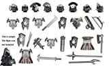 Uruk-hai Orcs Armor, Helmet and Weapon Compatible with Major Building Block Brand