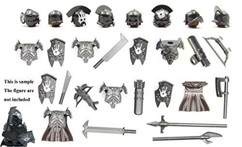 Uruk-hai Ork-Zahnräder für Lego Figur (frei 8 Soldat) (Schwarz)