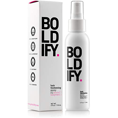 BOLDIFY Hair Thickening Spray - Get Thicker Hair in 60 Seconds - Stylist Recommended Hair Thickening Products for Volume, Texture and Lift - The Ultimate Hair Thickener for Women and Men - 8 oz