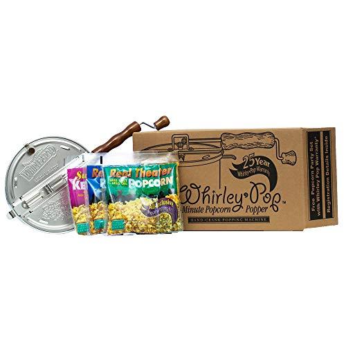 Whirley-Pop Starter Pack - Nylon Gear - Silver - 3 Popping Kits